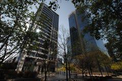 Grattacieli a Santiago, Cile Immagini Stock Libere da Diritti