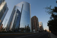 Grattacieli a Santiago, Cile Fotografia Stock