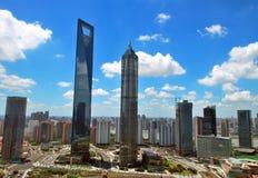 Grattacieli a Schang-Hai Fotografie Stock Libere da Diritti