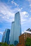 Grattacieli sotto il cielo a Melbourne Australia Fotografia Stock