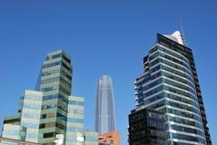 Grattacieli stupefacenti a Santiago, Cile fotografia stock libera da diritti