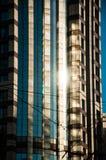 Grattacieli sulla strada di Nanchino a Shanghai Immagini Stock