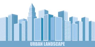 Grattacieli urbani del paesaggio Fotografia Stock Libera da Diritti