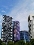 Grattacieli variopinti a Melbourne Fotografia Stock