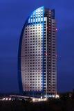 Grattacielo alla notte Fotografia Stock