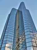 Grattacielo blu moderno Fotografia Stock Libera da Diritti