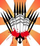 Grattacielo con le frecce Fotografie Stock Libere da Diritti