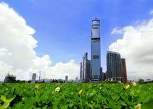 Grattacielo contemporaneo della città a Hong Kong Immagine Stock Libera da Diritti