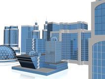 grattacielo 3d Illustrazione di Stock