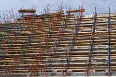 Grattacielo del cantiere di rinnovamento della costruzione dell'impalcatura Fotografia Stock
