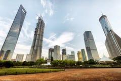 Grattacielo del centro finanziario di Shanghai Lujiazui Fotografia Stock Libera da Diritti