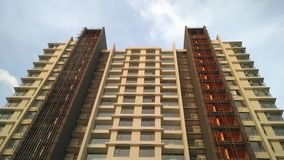 Grattacielo della costruzione ad architettura moderna alta di Chennai Fotografia Stock