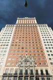 Grattacielo di deco di ard di Edificio España in Plaza de España, Madrid Fotografia Stock