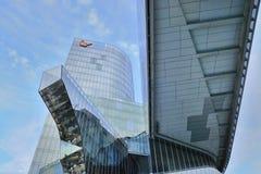 Grattacielo di Edifici Gas Natural anche Torre Mare Nostrum Fotografie Stock