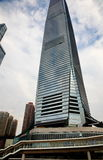 Grattacielo di vetro a Hong Kong Fotografia Stock