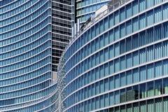 Grattacielo di vetro a Milano Fotografia Stock Libera da Diritti