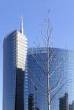 Grattacielo di vetro a Milano Fotografie Stock
