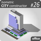 Grattacielo isometrico moderno Immagini Stock Libere da Diritti