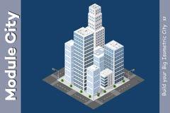 Grattacielo isometrico urbano Fotografie Stock Libere da Diritti