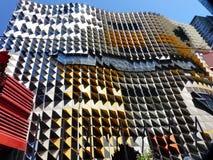 Grattacielo meraviglioso Melbourne, in Australia, vari colori e strutture in vetro ed acciaio Immagine Stock Libera da Diritti
