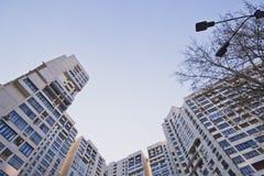 Grattacielo, rispettante il cielo Fotografia Stock