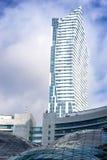 Grattacielo a Varsavia centrale Fotografia Stock Libera da Diritti