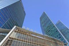 Gratte-ciel à l'endroit central de Pékin, Chine Images stock