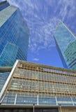 Gratte-ciel à l'endroit central de Pékin, Chine Images libres de droits