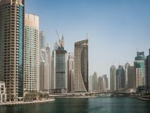 Gratte-ciel à la marina de Dubaï, EAU Images libres de droits