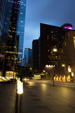Gratte-ciel au crépuscule, Houston Downtown Photographie stock