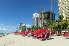 Gratte-ciel chez Sunny Isles Beach Photographie stock