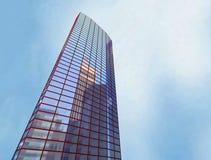 Gratte-ciel, construisant Photographie stock libre de droits