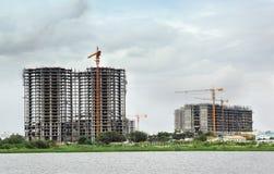 Gratte-ciel Constrution Images stock