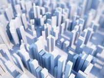 Gratte-ciel 3D abstraits Image libre de droits