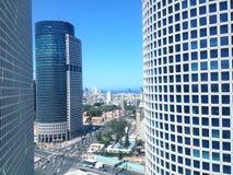Gratte-ciel d'Azrieli, Tel Aviv, Israël photo stock