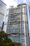 Gratte-ciel d'horizon de Hong Kong Central Financial Centre de quart principal de HSBC Images libres de droits