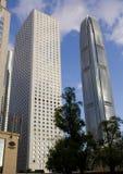 Gratte-ciel d'horizon de la Chambre IFC Hong Kong Central Financial Centre de Jardine Images stock