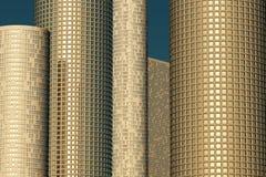 Gratte-ciel dans la lumière d'or Photographie stock libre de droits