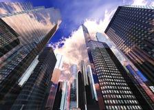 gratte-ciel dans la ville d'automne Photos stock
