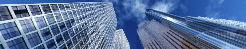 gratte-ciel dans la ville d'automne Image stock