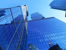 Gratte-ciel dans la ville de Moscou Complexe architectural de bureau et de b?timents r?sidentiels photo stock