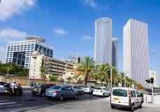 Gratte-ciel de bâtiment à Tel Aviv Images libres de droits