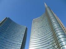 Gratte-ciel de centre de Milan Commercial Photographie stock libre de droits