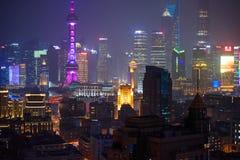 Gratte-ciel de Changhaï du centre Images libres de droits