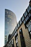 Gratte-ciel de construction de Moderl à Francfort Image libre de droits