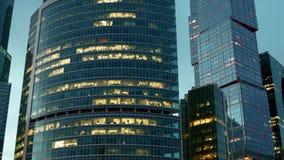 Gratte-ciel de hyperlapse de ville de Moscou banque de vidéos