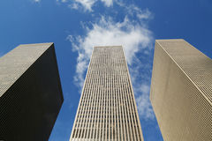 Gratte-ciel de la 6ème avenue ou de l'avenue des Amériques à Manhattan Image libre de droits