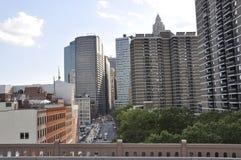Gratte-ciel de Lower Manhattan de New York City aux Etats-Unis photos stock