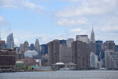 Gratte-ciel de Manhattan do panorama Imagem de Stock Royalty Free