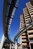 Gratte-ciel de monorail Image stock